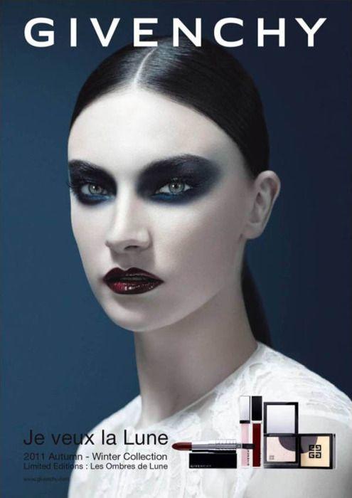 Givenchy - Dark makeup, slick back hair