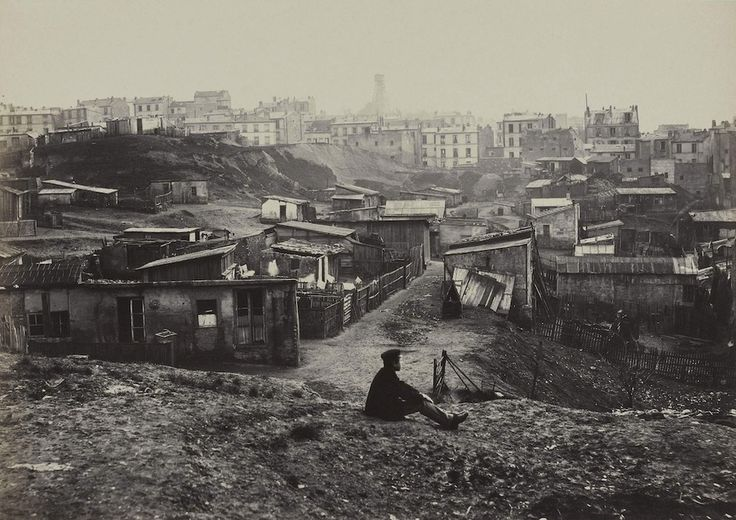 Top of the rue Champlain in the 20th Arrondissement, 1877. | These Intriguing Photos From The 1860s Show A Paris That No Longer Exists