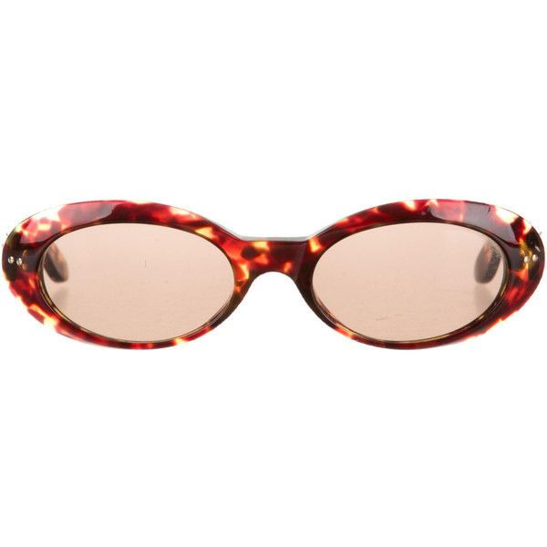 180ba6768 Divine 90s GUCCI Tortoiseshell Resin Oval Eye Round Cat Eye Vintage...  (2,700 MXN) ❤ liked on Polyvore featuring accessories, eyewear, s…