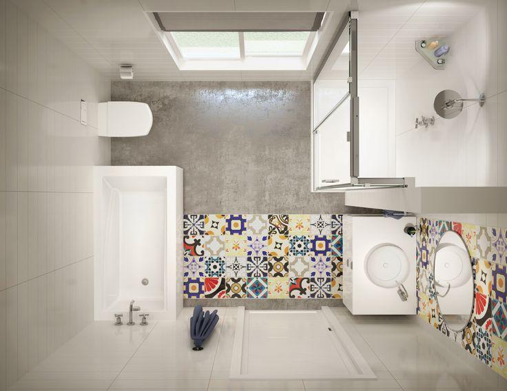MAAX ModulR Half-Wall Shower and Wall-Mounted Tub - Top View