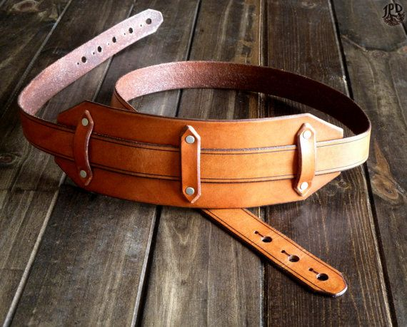 Custom Guitar Strap - Leather Guitar Strap - Handcrafted Music Strap - Personalized Instrument Strap - Acoustic, Electric, Dobro, Folk