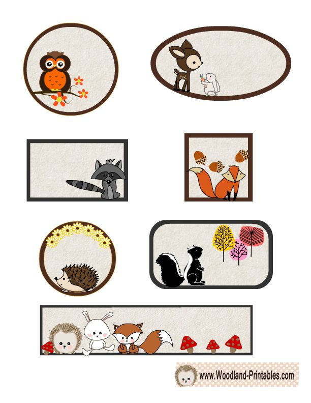 Free Printable Woodland Animals Labels Free Printables