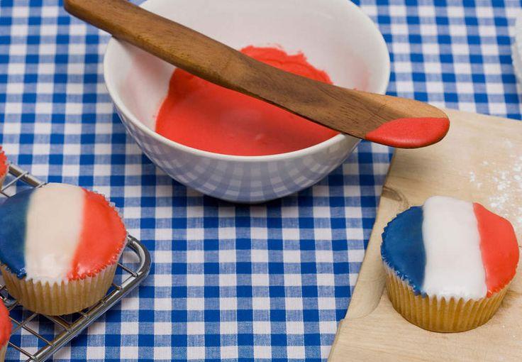 Cupcakes façon drapeau français