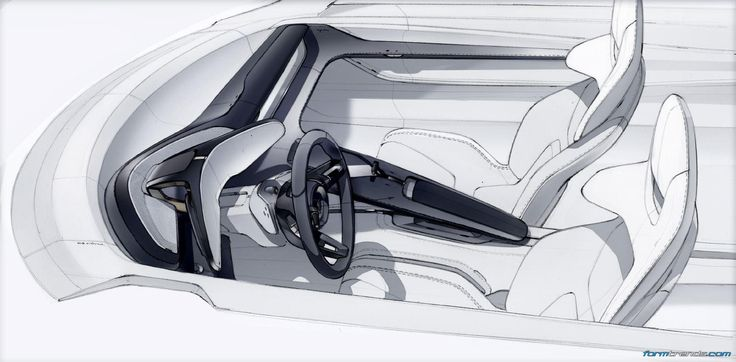 Porsche Mission E Interior Sketches By Felix Godard