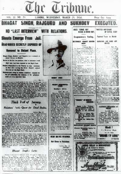 Just on the Remembrance of Bhagat Singh.. 25March1931