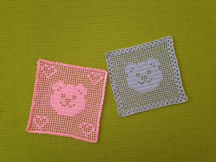 1:12 Dollhouse miniature baby crochet blanket by MiniTinyDresses