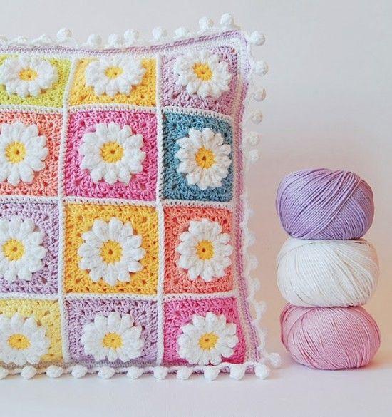 Daisy Granny Square Crochet Free Patterns