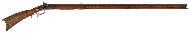 A. Daniels Signed Percussion Pennsylvania Long Rifle