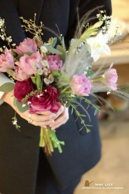 "ILSAN""maylily flower &pottery""shop  l made a natural bouquet.  일산플라워레슨-메이릴리 튤립에빠져있는 메이릴리."