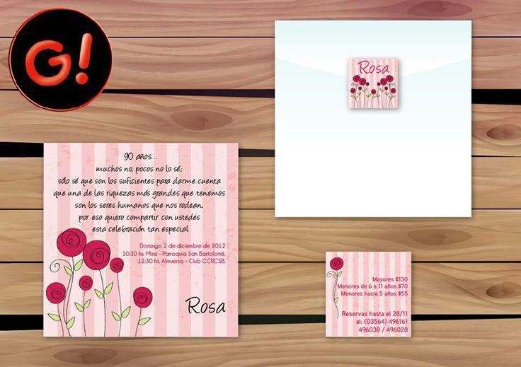 Diseño de Tarjeta para Cumpleaños Diseño de Sticker - CUMPLEAÑOS 90 AÑOS -