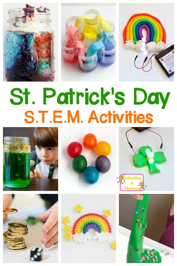 St. Patrick's Day doesn't have to be just about crafts! Bring some STEM to the holiday with these hands on St. Patrick's Day STEM activities for kids! #stpatricksday #stemactivities #stemed #stem