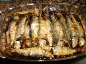 Sardinhas assadas no forno