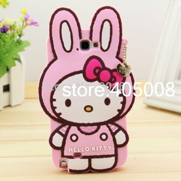 Cheap Cubierta, para la nota 2 N7100 nota 3 N9000 Cute Hello Kitty dibujos animados de silicona volver caso, Compro Calidad Fundas para Móvil directamente de los surtidores de China:                            Damos la bienvenida a cualquier tipo de OEM o del ODM