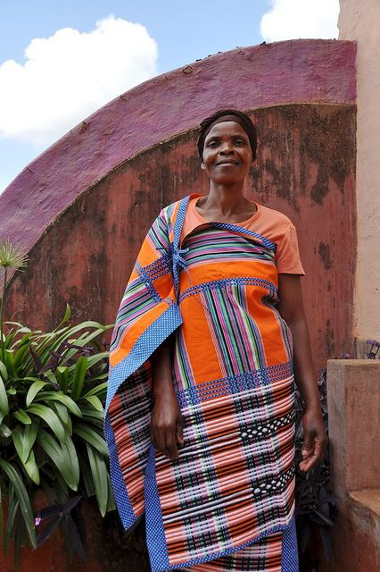 Orange Venda Traditional Dress