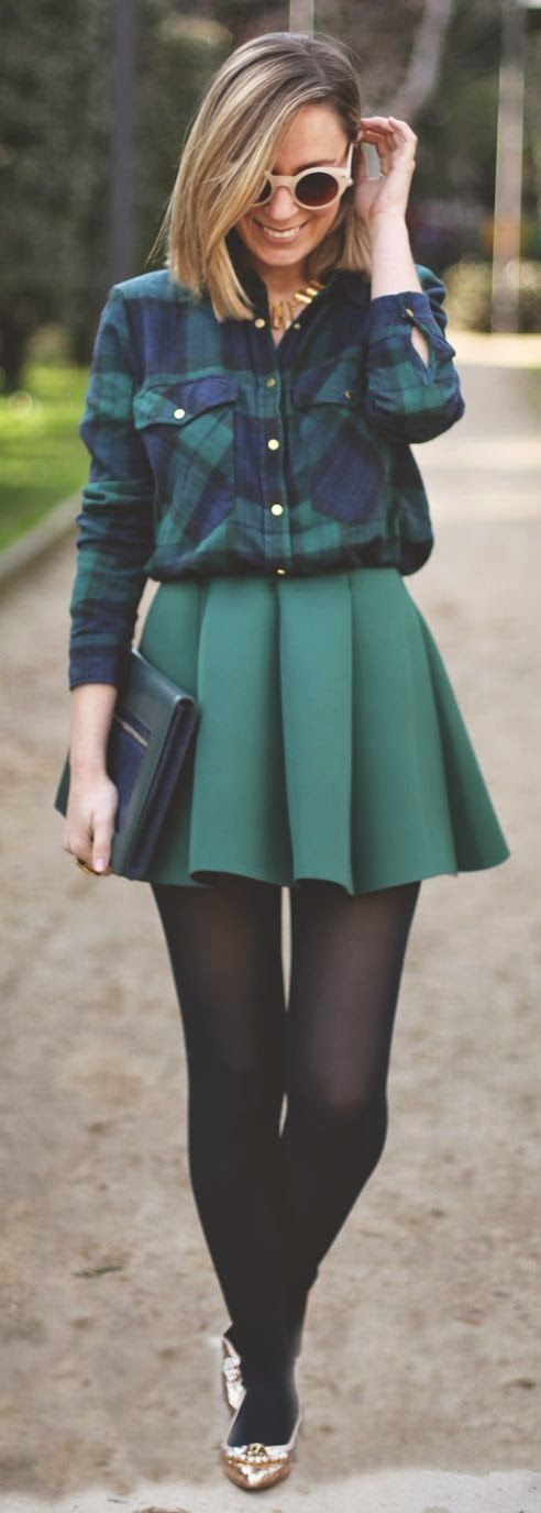 Neoprene Skirt With Cool Shades