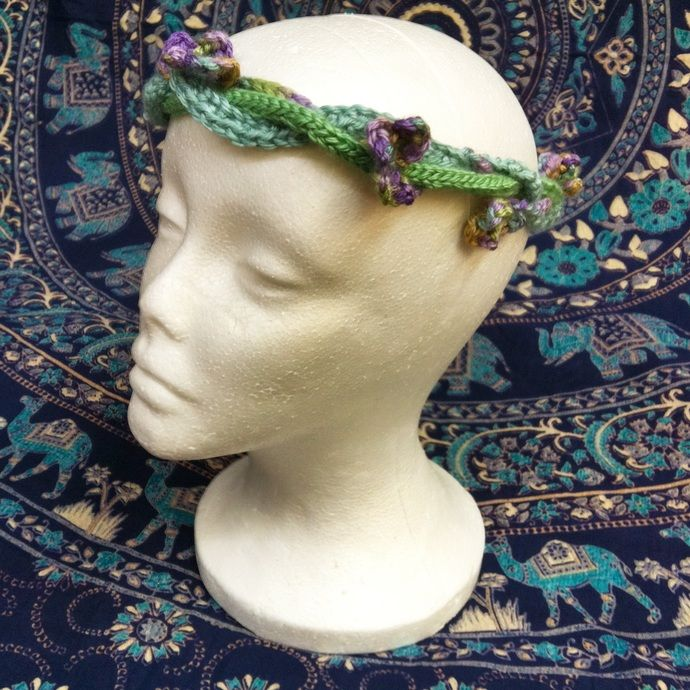 Spring Blossoms Flower Crown by La Vida Fae, $20.00 USD