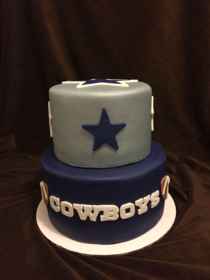 2 Tier Dallas Cowboys Cake