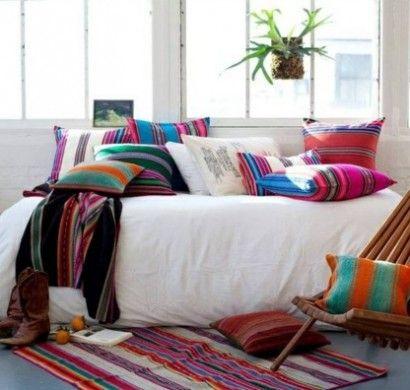 innendesign-mexikanische-deko-ideen-farben-muster-deko-kissen                                                                                                                                                                                 Mehr