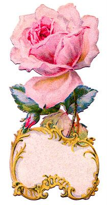 *The Graphics Fairy LLC*: Vintage Graphic - Ornate Rose Tag - Label