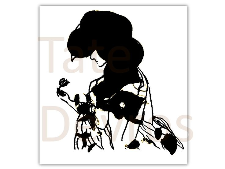 The Flower, is an ink paint sketch of a women holding a rose.... by Tate Devros.1024 x 768 pixels.PNg file type.Download, print and display today or use for any project.