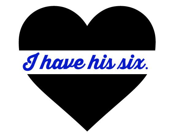Thin Blue Line Decal I have his six. by PerfectCutGraphics on Etsy