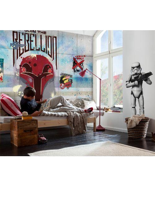 Poster gigante komar Star Wars 8-485 Rebels Wall, immagine scenica che rappresenta la presentazione del film, fantastico effetto sulla parete della stanza dei tuoi ragazzi, fotomurales, gigantografia, carta da parati Komar 8-485 foto murale stampe ad alta risoluzione, in vendita la composizone come foto, singoli fogli che assemblati tra di loro danno vita a questa stupenda immagine realistica : Ko
