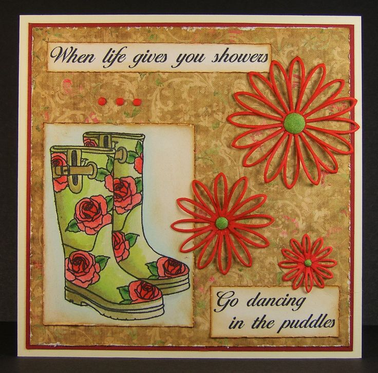 Designed by Allison Hugill using Little Claire Wellies digi stamp.