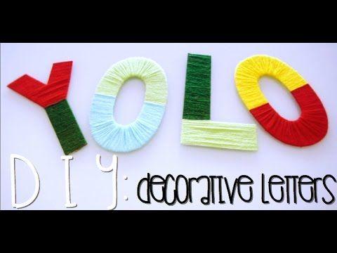 DIY: Decorative Letters
