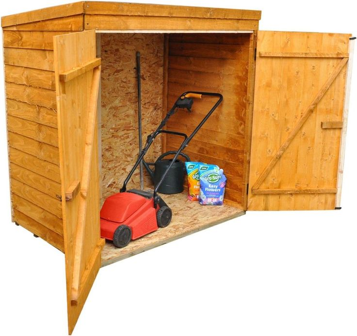Small Garden Shed 5 X 3FT Overlap Garden Storage Unit Mower Doors Panels  Wooden