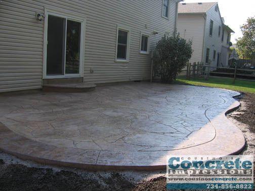 Cousinos Concrete Impressions   Stamped Concrete Patio Pictures