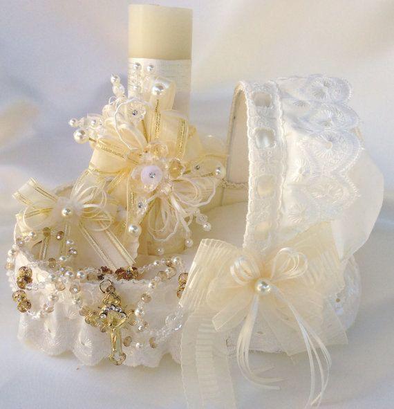 Vela para bautizo velas de bautizo set blanco por AVAandCOMPANY