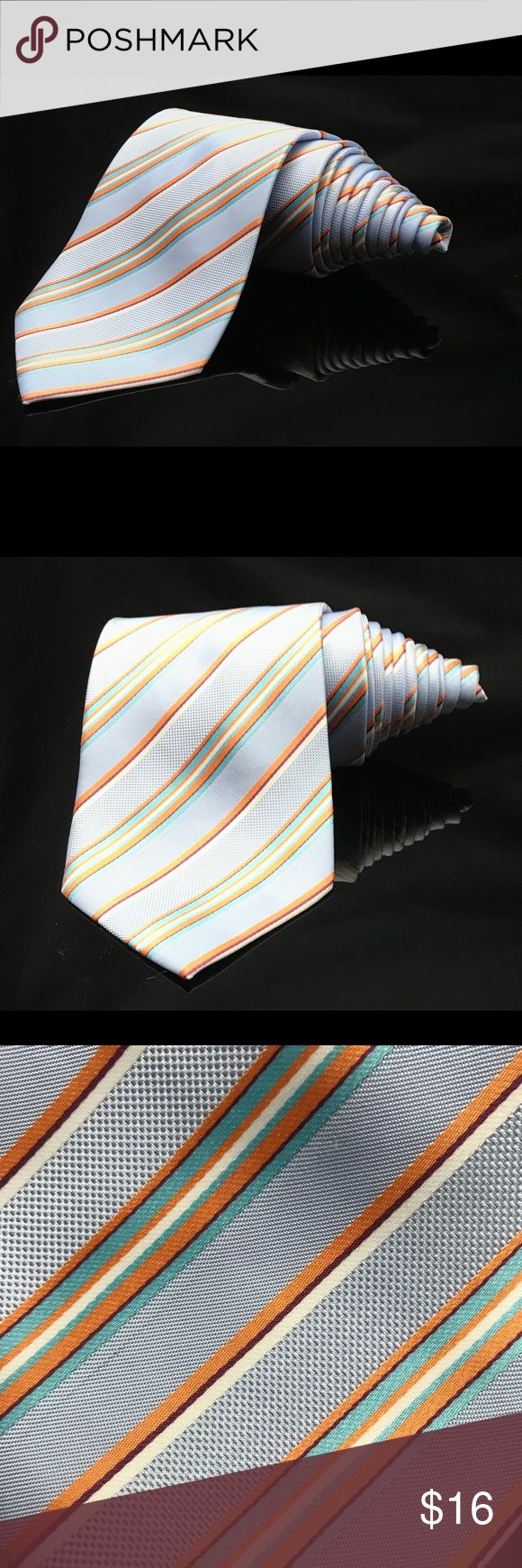 BROOKS BROTHER Green Blue Orange Striped tie BROOKS BROTHER Green Blue Orange Striped  Dapper Suit Fashion Tie Brooks Brothers Accessories Ties