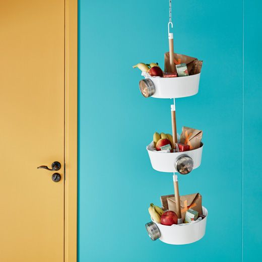 Ikea Snack prep ideas Hang lunches and snack right by the door, to help streamline back to school routines