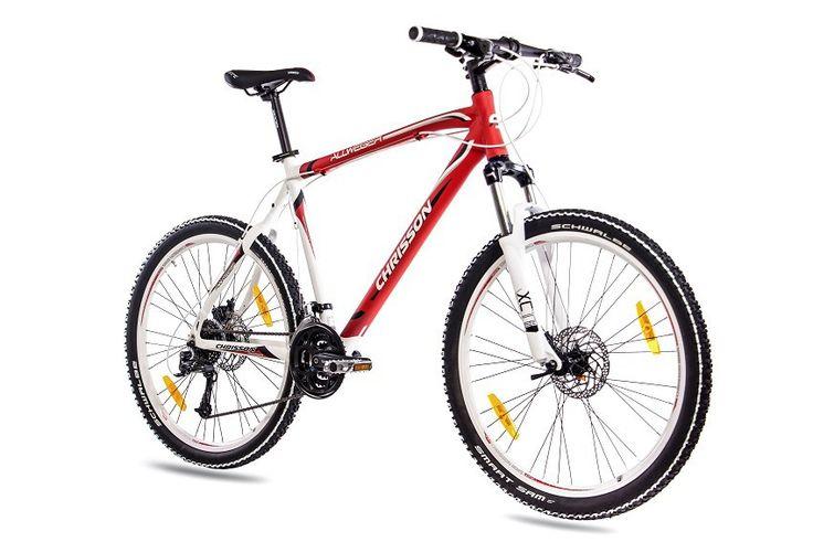 26 Zoll MTB Mountainbike CHRISSON ALLWEGER ALU mit 24G DEORE rot weiss matt