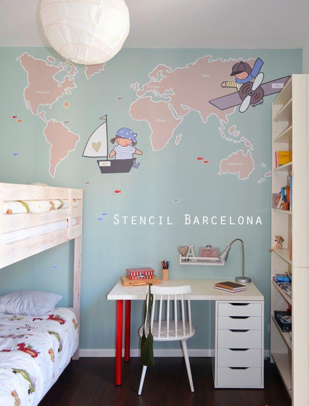 77 best vinilos infantiles de stencil barcelona images on pinterest barcelona barcelona city Vinilos ikea infantiles