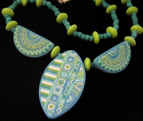 Polymer Clay Art Necklace