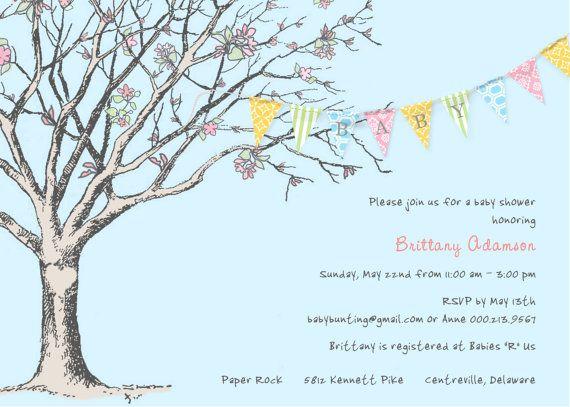 baby shower invite: Someday Baby, Shower Ideas, Emily Baby, Baby Shower Invitations, Banners Baby, Color, Wedding, Baby Stuff