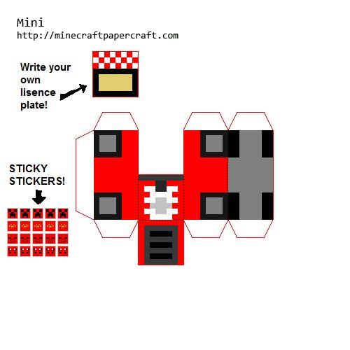 intersting Mini cars | n8's epic Minecraft board ...  intersting Mini...