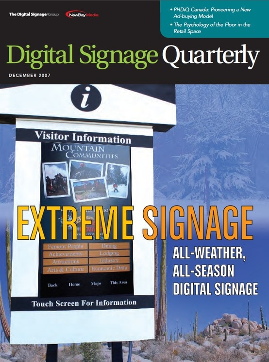 December 2007~ Cover of Digital Signage Quarterly