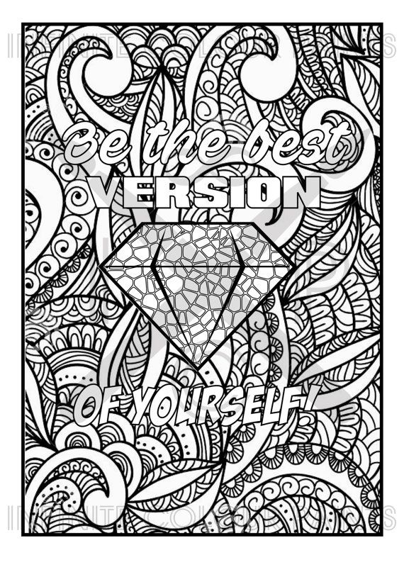 275 Best Words Colouring Pages For Adults Images On