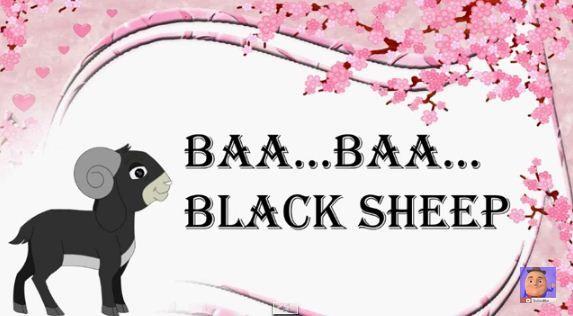 """ Baa Baa Black Sheep "" BaBa Black Sheep Rhyme For Kids Famous Baa Baa Black Sheep Poem from KidsOne"