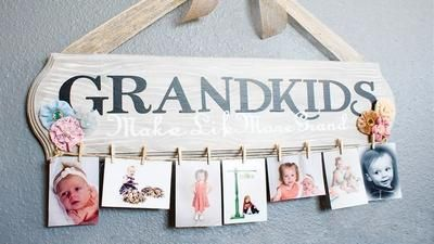 List of homemade. Make for grandma add another board for great grandchildren.