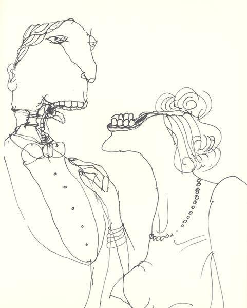 Tomi Ungerer  del libro The Party dato curioso: Tomi también ilustró el póster de Dr. Strangelove de Kubrick