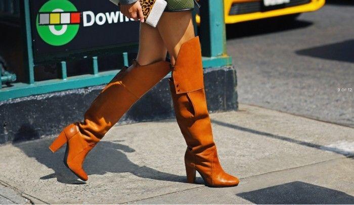 Ora Overknee Stiefel in Cognac Farbe von Philip Lim