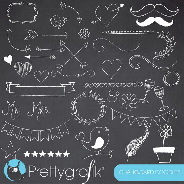 Chalkboard Doodles Clipart #1