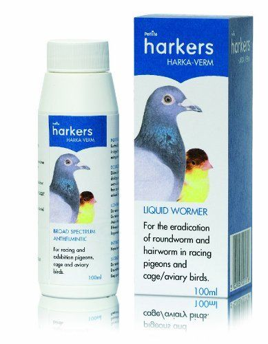 Harka-Verm is a Liquid Wormer effective against ringworm and hairworm in racing pigeons and cage birds for use against roundworm and hairworm Safe and easy to use Dosage: 6ml Harka-Verm to 2 litres of...