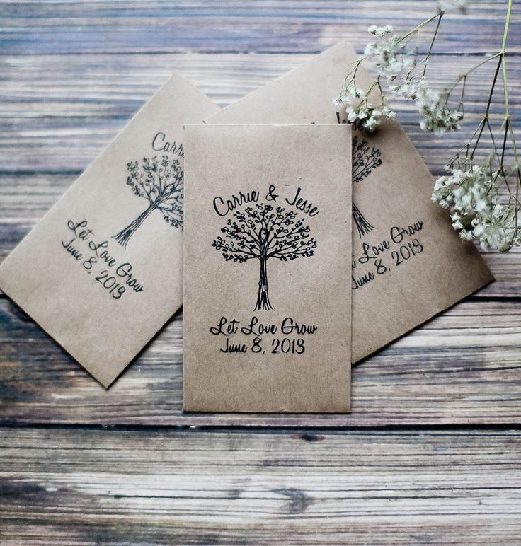 Many people give out seeds as wedding favors because not only are they affordable, but they're also an eco-...