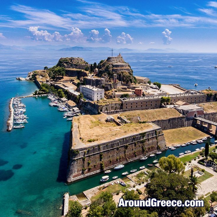 The Old Venetian Fortress on the beautiful Greek island of Corfu.  #Corfu #Greece #Greekislands #Ionian #islands #travel #tourism #holidays #vacations #aroundgreece #visitgreece #fortress #Κερκυρα #Ελλαδα #ΕλληνικαΝησια #διακοπες #ταξιδια