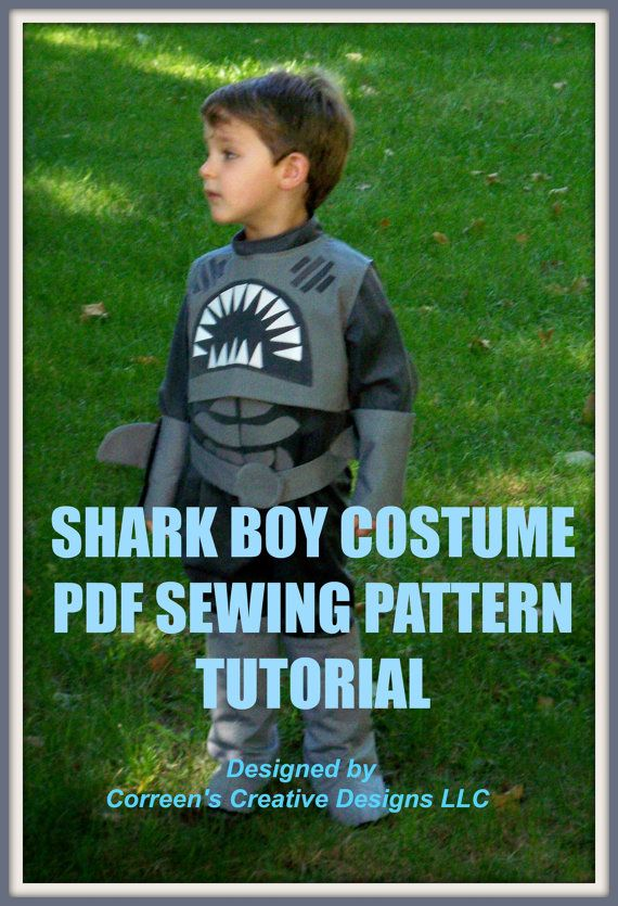 Shark Boy and Lava Girl Costume sewing patterns - PDF patterns, sharkboy costume, sewing pattern, costume tutorial