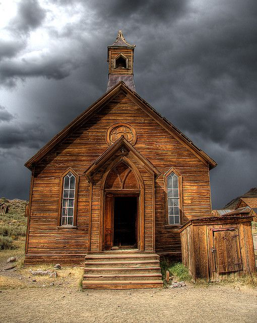 Historic Bodie Church -- Bodie is a beautiful ghost town in California, well worth the trip.